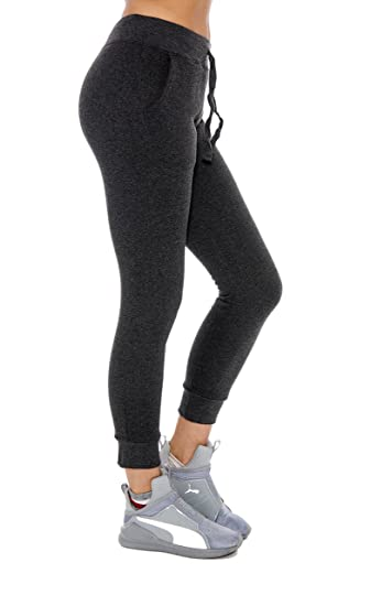 8770dcbd282651 Women's Jogger Sweatpants Warm Solid Color Lounge Pants - Assorted Colors,  Charcoal, Large at Amazon Women's Clothing store: