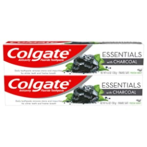 Colgate Essentials Charcoal Teeth Whitening Toothpaste - 4.6 Ounce (2 Pack)