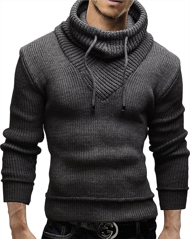 Merish Cardigan Jumper Sweater Scarf Collar Slim Fit Wool Men`s 50
