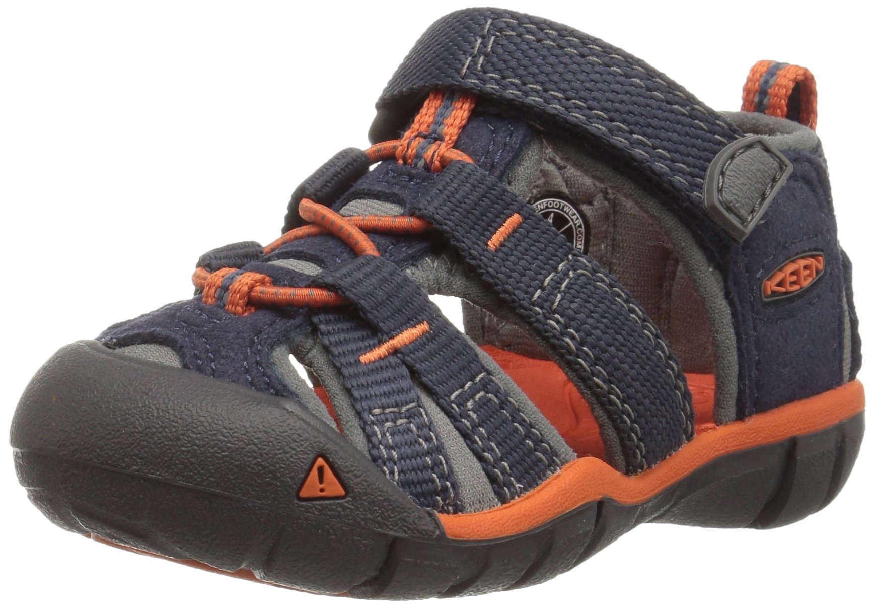 KEEN Kids' Seacamp II CNX-T Sandal, Dress Blue/Koi, 5 M US Toddler