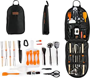 GATLING, CO. 21-Piece Camping Cookware Set - Portable Camping Kitchen Utensils