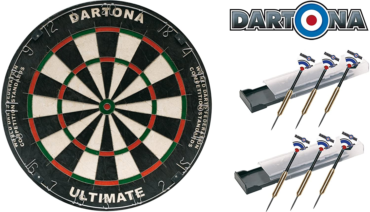 Dartboard Dartona Ultimate inkl. 6 Steeldarts