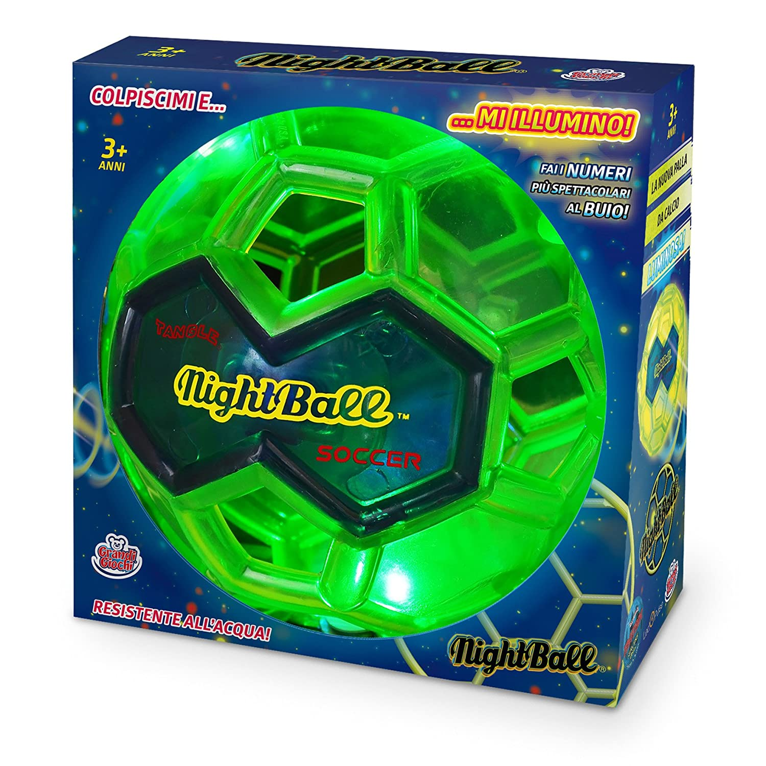 [amazon] Pubblicità di Cartoonito e Rai YoYo: Grandi Giochi GG00230 - Night Ball, Verde Lime per 13,20€