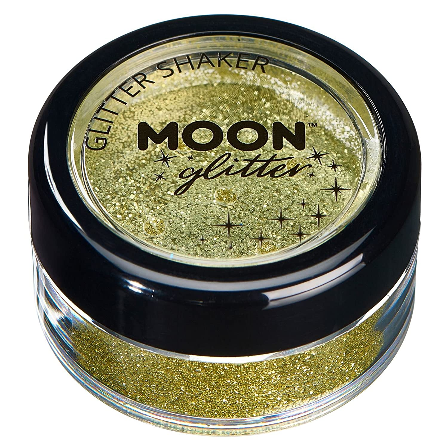 Fine Glitter Shakers by Moon Glitter – 100% Cosmetic Glitter for Face, Body, Nails, Hair and Lips - 0.17oz - Silver