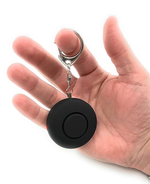 ocona Alarma Personal P/ánico Negro//Ronda Alto Decibeles Alarma con Funci/ón Ataque Seguridad Protecci/ón