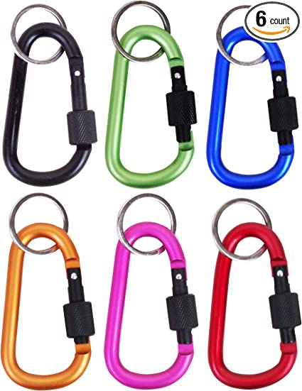 Carabiner Key Chain Heart Shaped Key Ring Belt Clip Snap Aluminum Lot of 72