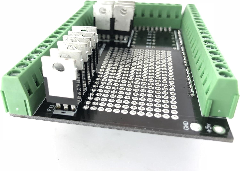 Baked Dist Mosfet Shield V1 for Arduino Mega