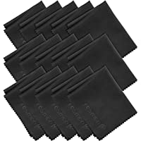 Microfiber Cleaning Cloths, Fosmon 15-Pack of Microfiber Cleaning Cloths [6 x 7 inches / 15.2 x 17.8 cm] (Black)