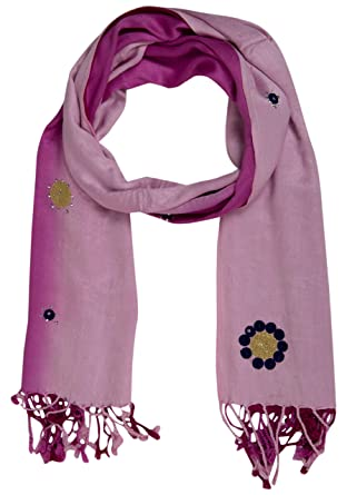 09476c7a0f454 PSS Premium Quality Handcrafted Maroon color with Design - stole and scarf  for women Scarf Soft