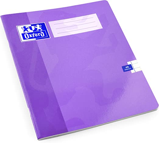 Pack of 2 48 Pages Oxford A5 Exercise Book 8mm Lined Purple Cover