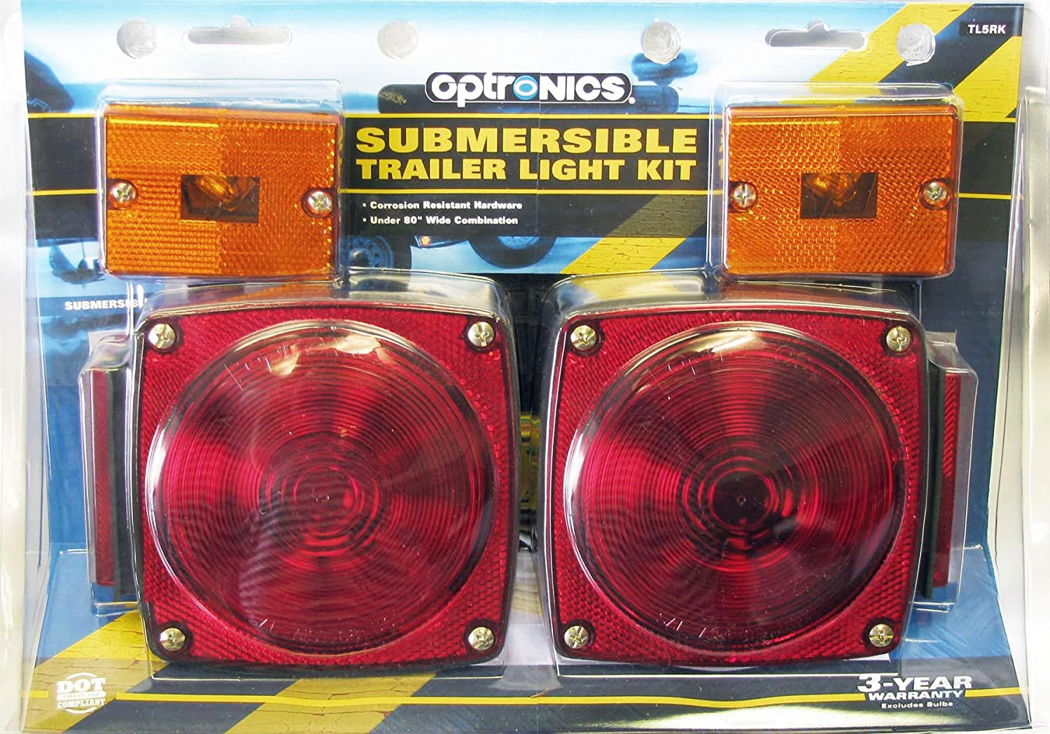 Optronics Tl5rk Submersible Combination Tail Light Kit As Well Led Trailer On Harbor Freight Wiring Sports Outdoors