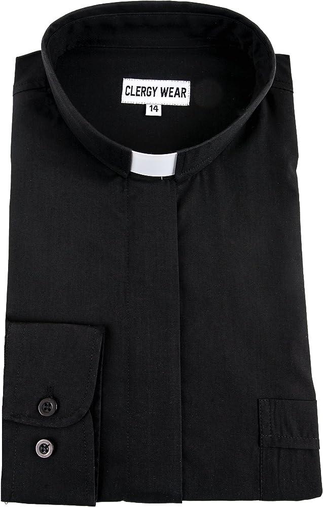 36f448fd1d Women's Long Sleeve Tab Collar Clergy Shirt