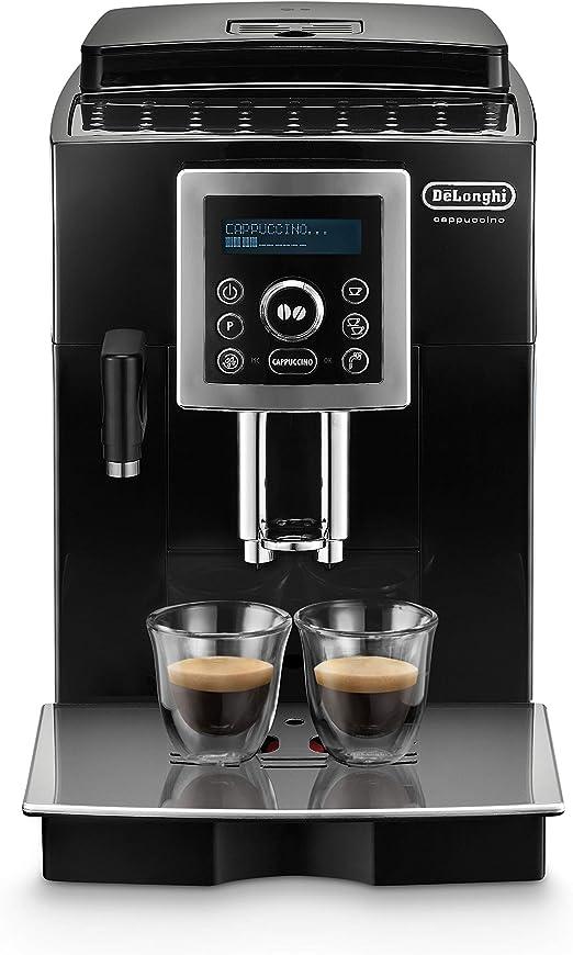 DeLonghi One Touch Cafetera automática independiente con portafiltro, 1450 W, 1.8 L, 15 bares, plástico, negro: Amazon.es: Hogar