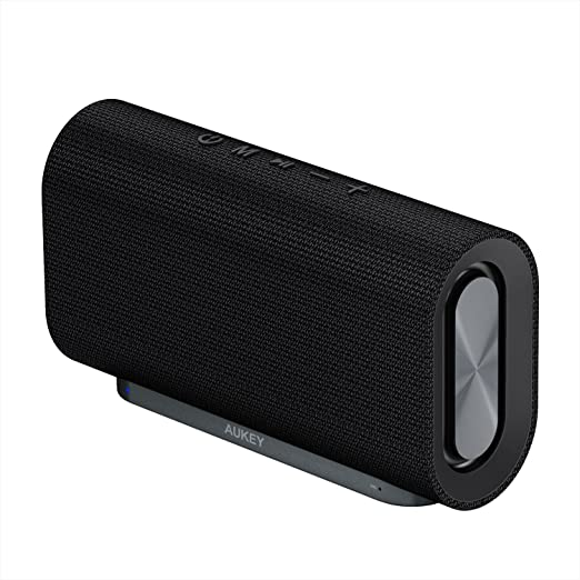 AUKEY Altoparlante Bluetooth 4.2 con 20W Driver, 12 Ore di Utilizzo e Superficia in Tessuto per iPhone, iPad, Echo Dot, Samsung, Android Cellulari e Altri Dispositivi (Versione Aggiornata)