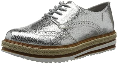 Tamaris Damen 23709 Sneaker, Silber (Silver Crack 944), 39 EU