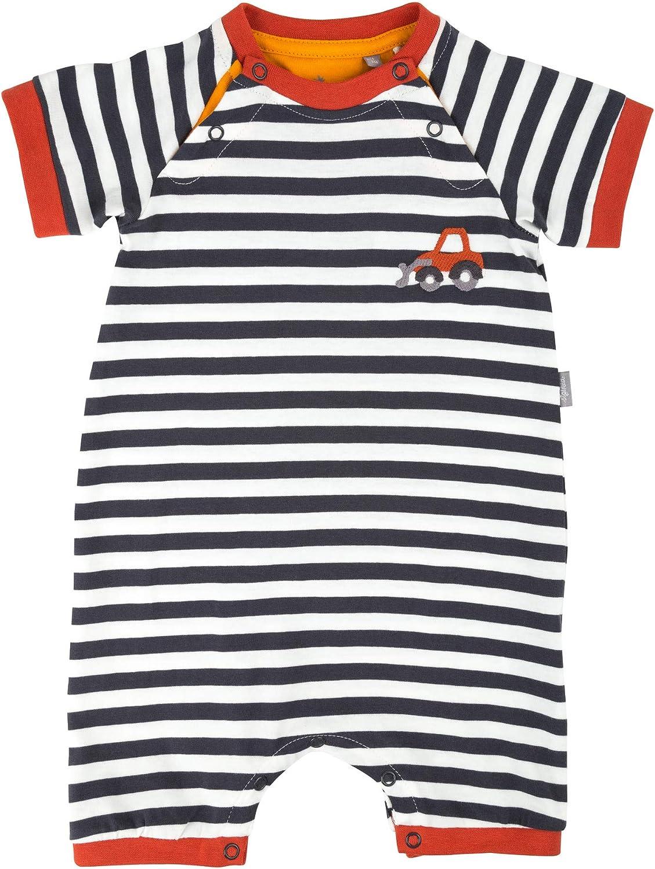 Sigikid Baby-Jungen Overall Kurz-Spieler-Schlafanzug Sommer Schlafstrampler