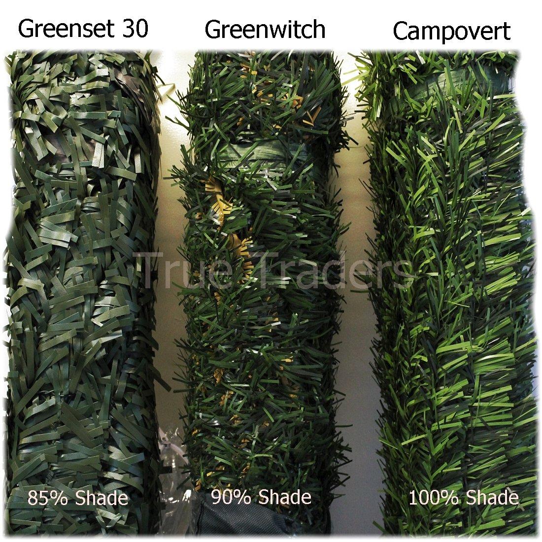 campovert Greenset 36 Künstliche Nadelhecke Kunststoff Sichtschutz