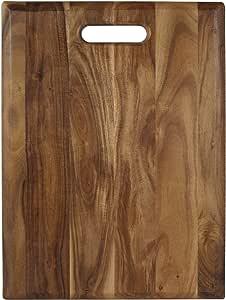 Architec Gripperwood Acacia Cutting Board Non Slip Gripper Feet 12 By 16 Kitchen Dining Amazon Com