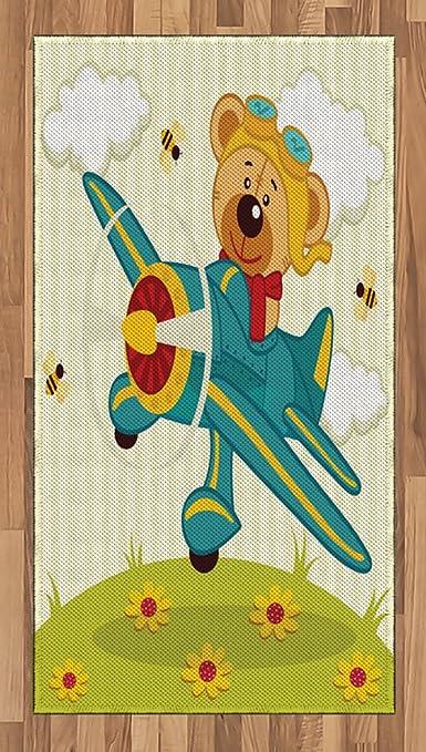 Lunarable Alfombra para zona de dibujos animados, diseño de oso de ...