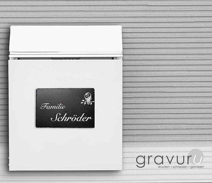 Schiefer T/ürschilder mit Gravur Namensschild Briefkastenschild selbstklebend//blank Klingelschild mit mehr als 80 Motive Gr/ö/ße 16x8 cm