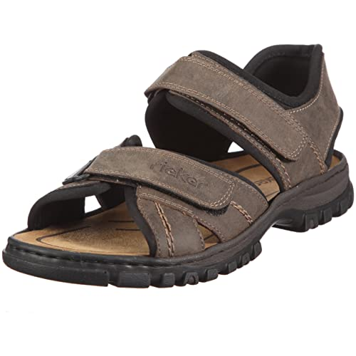 Rieker 25051-27, Men's Open Toe Sandals, Brown (Tobacco/Black)