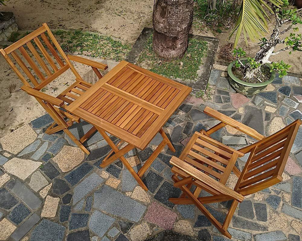 SAM® Conjunto para jardín, Mueble de Madera de Acacia, 3 ...