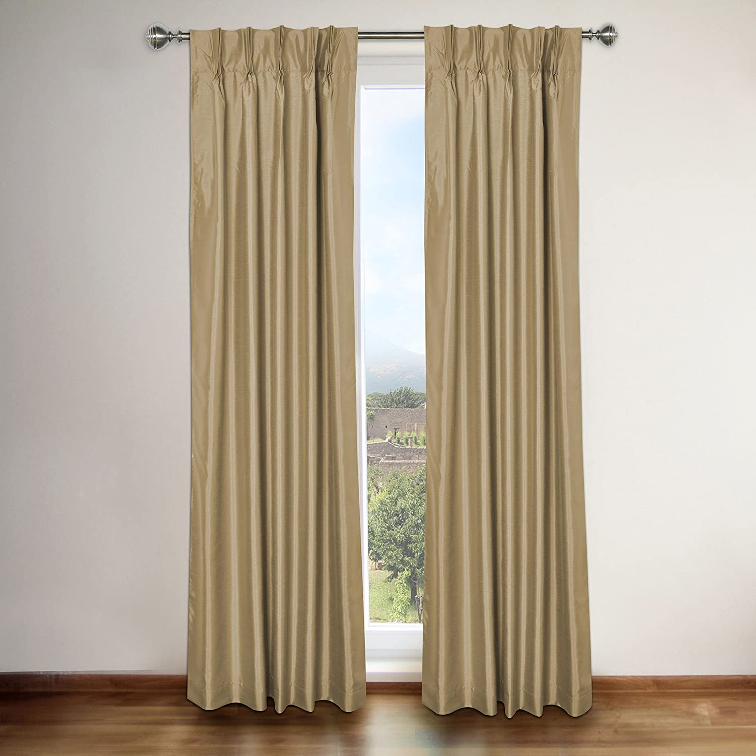 Famous Home Fashions Famous Home Elaine Taupe Window Curtain Panel 32' x 90'