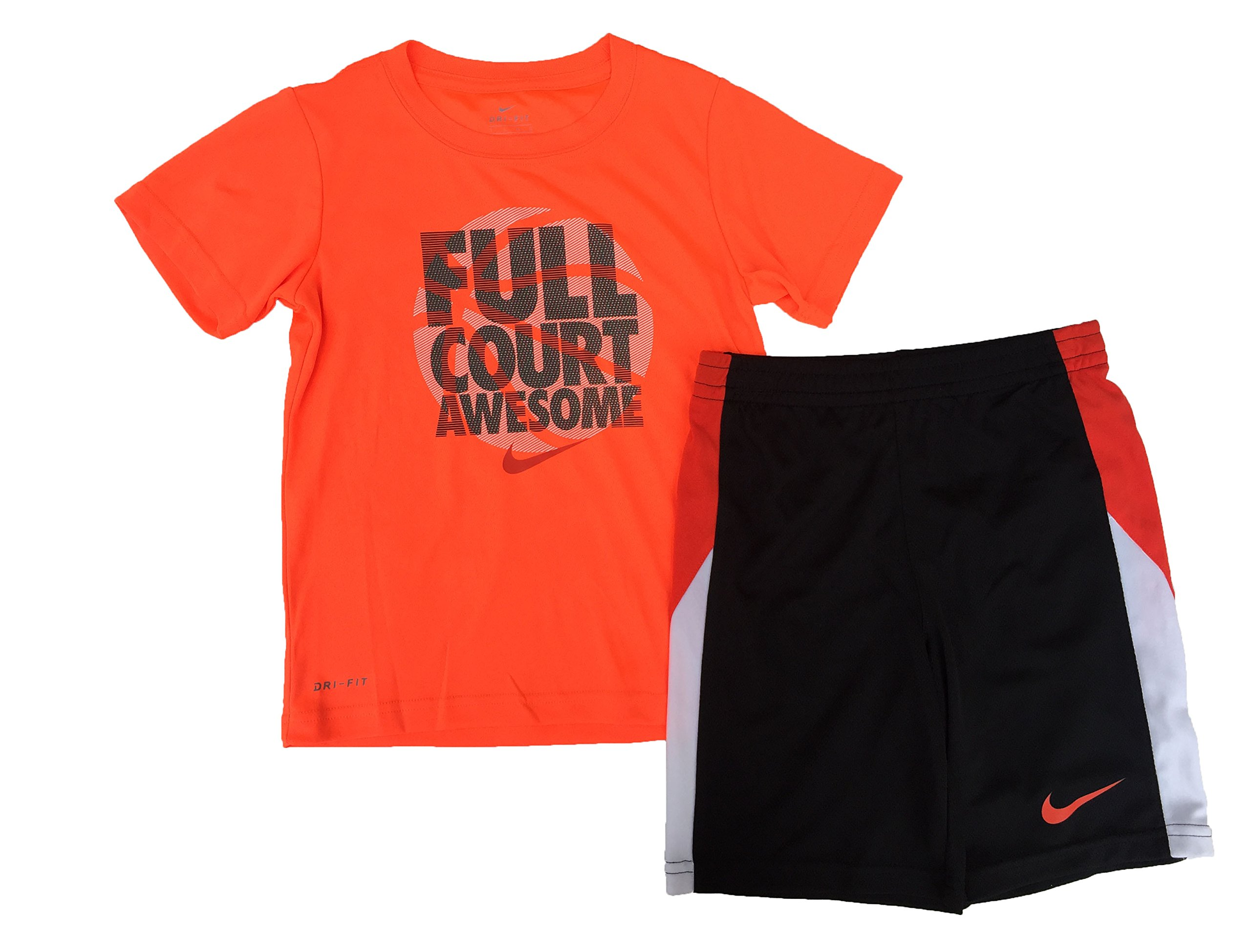 NIKE Boys Full Court Awesome T-Shirt and Shorts Set Hyper Crimson Size 5 by Nike