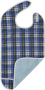 Modaliv Adult Bib - Reusable Clothing Protector - Waterproof - Crumb Catcher - Machine Washable (Blue)