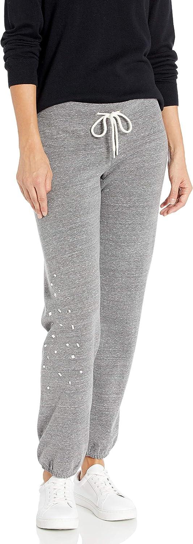 Monrow Womens Vintage Sweats W//Clustered Rhinestone