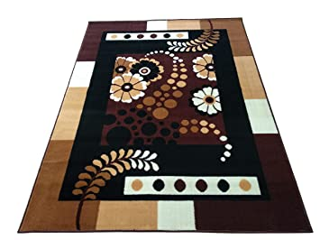 Ali Carpet MOST PREFER DESIGN FOR LIVING ROOM & BEDROOM HALL 150 X 200 CM 5 X 7 FEET COLOR BROWN & MULTI Carpets at amazon