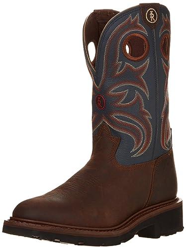 Tony Lama Mens RR3208 Oak Crazy Horse/Cadet Blue - Boots