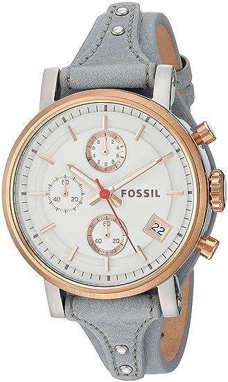 103a8467bb3 Fossil Women's ES4045 Original Boyfriend Sport Chronograph Iron Leather  Watch: Fossil: Amazon.ca: Watches