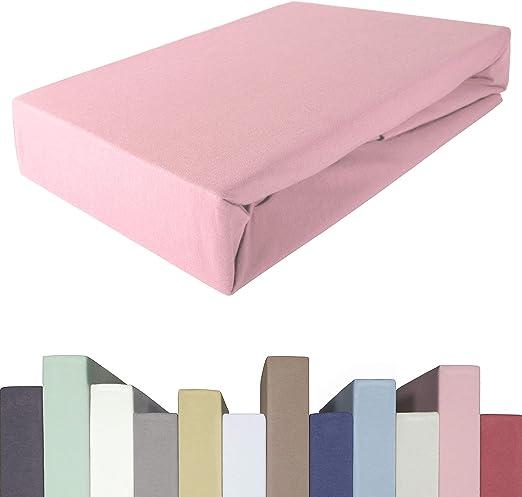 Spannbettlaken Bettlaken weiss 200 x 210 cm Jersey Baumwolle