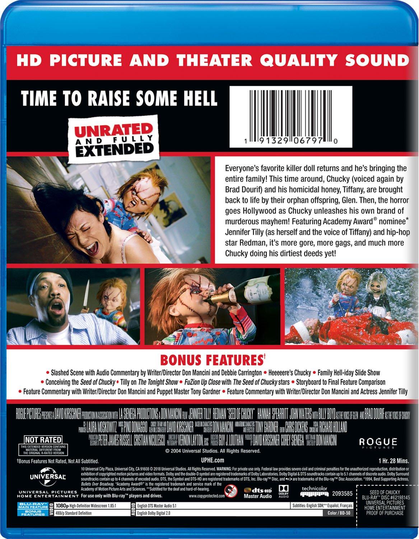 Seed Of Chucky Edizione: Stati Uniti Italia Blu-ray: Amazon.es: Brad Dourif, Jennifer Tilly, Beans El-Balawi, Billy Boyd, Redman, Hannah Spearritt, ...