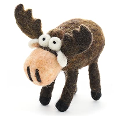 Woolbuddy Needle Felting Moose Kit: Toys & Games
