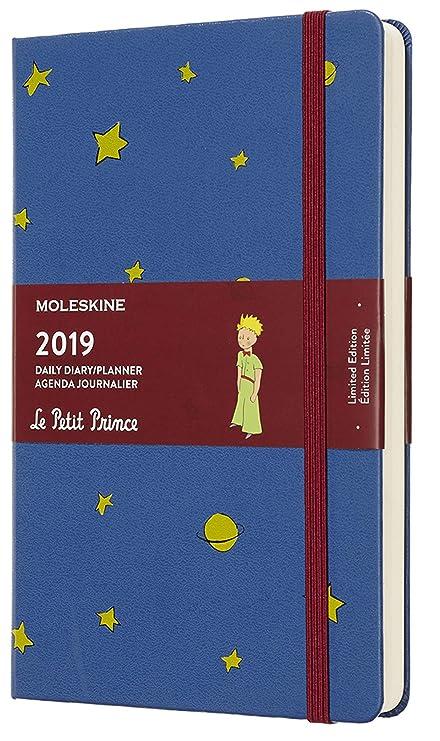 Moleskine DPP12DC3Y19 - Diario 12m de edición limitada Petit Prince, grande, color azul de amberes