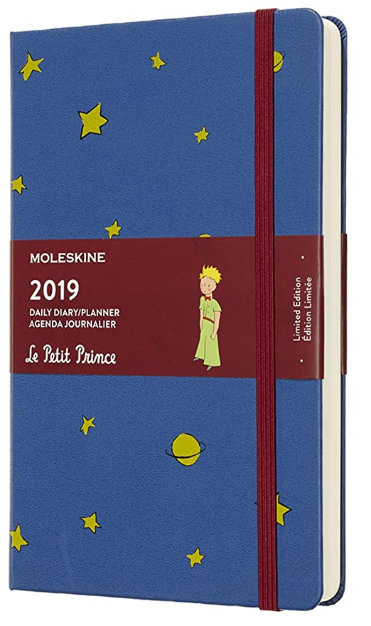 Moleskine Limited Edition Petit Prince 12 Month 2019 Daily Planner, Hard Cover, Large (5