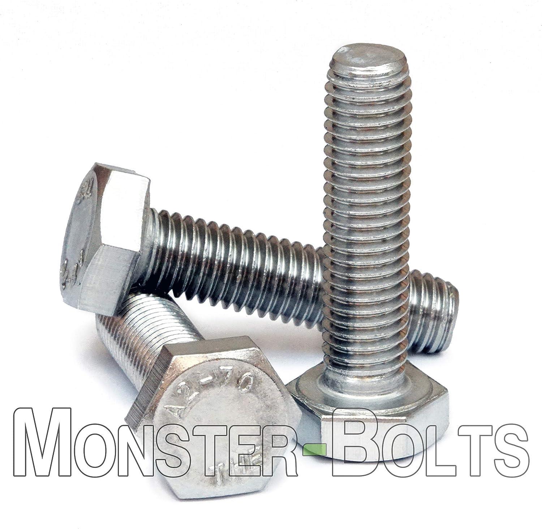 M8 x 1.25 x 22 MM Zinc Plated Coarse Class 8.8 Hex Cap Screw Bolt FT
