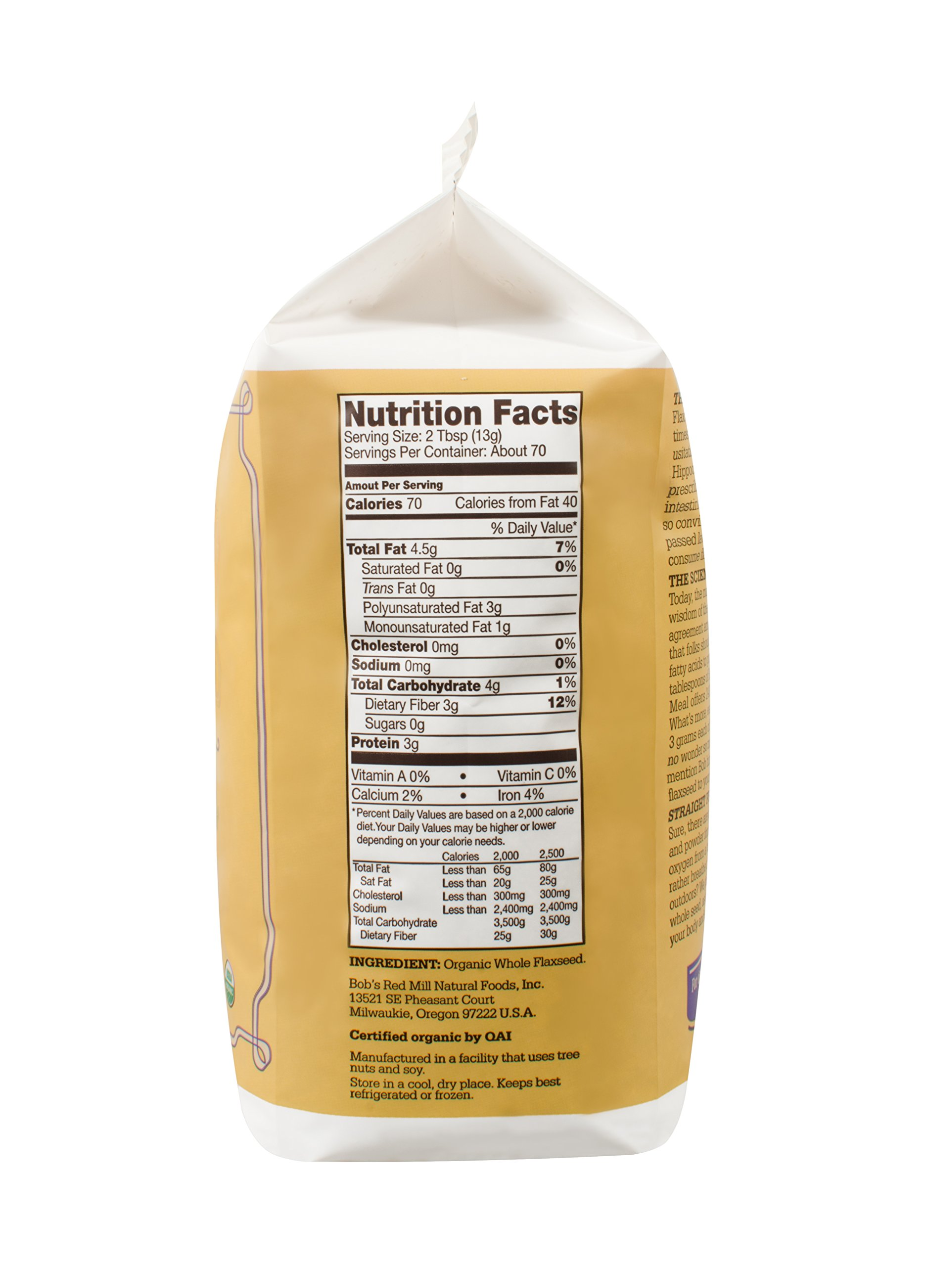 Bob's Red Mill Organic Brown Flaxseed Meal, 32 Ounce (Pack of 4) (Package May Vary) by Bob's Red Mill (Image #9)