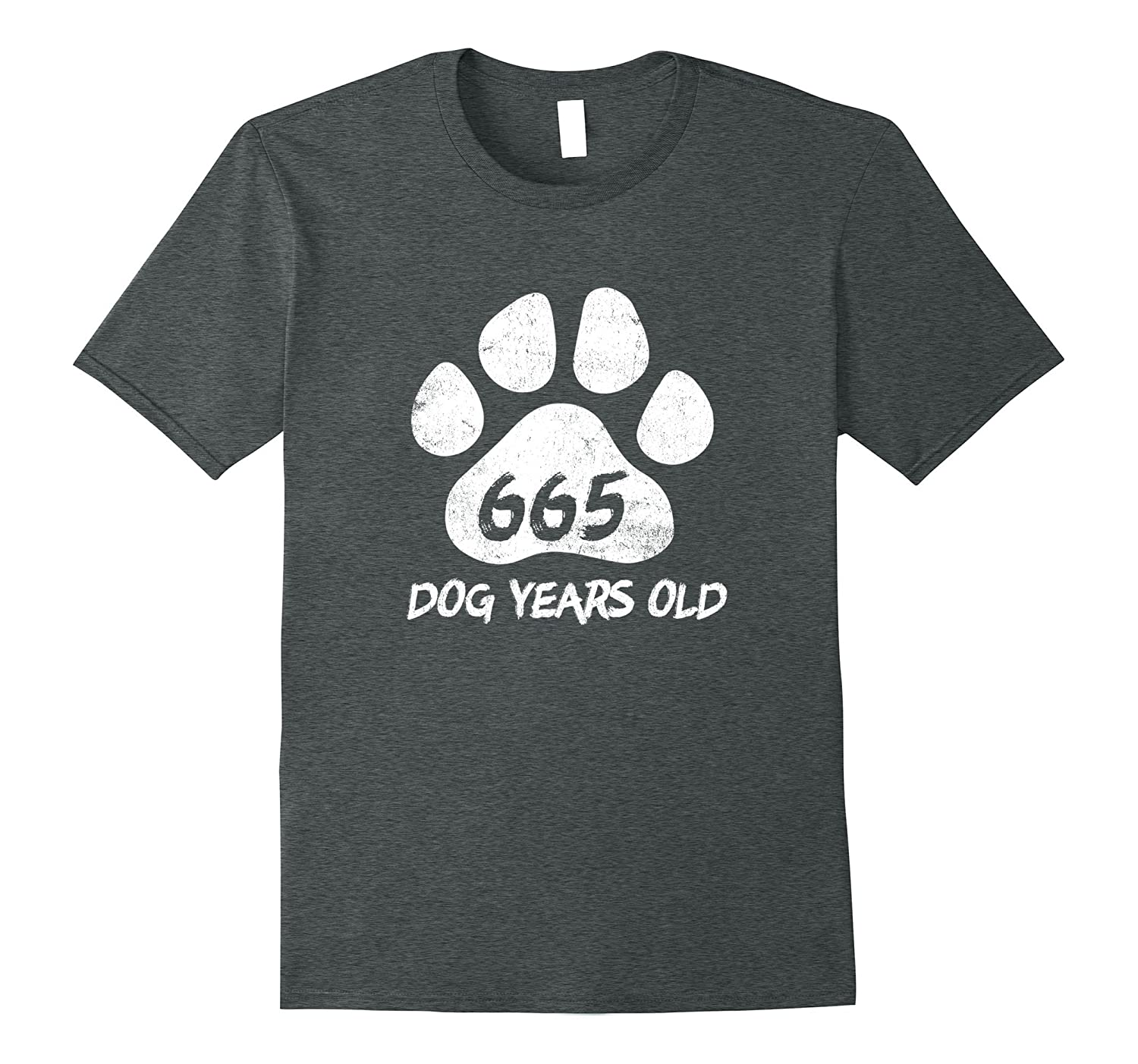 665 Dog Years Old Funny 95th Birthday T-Shirt Novelty Gift-PL