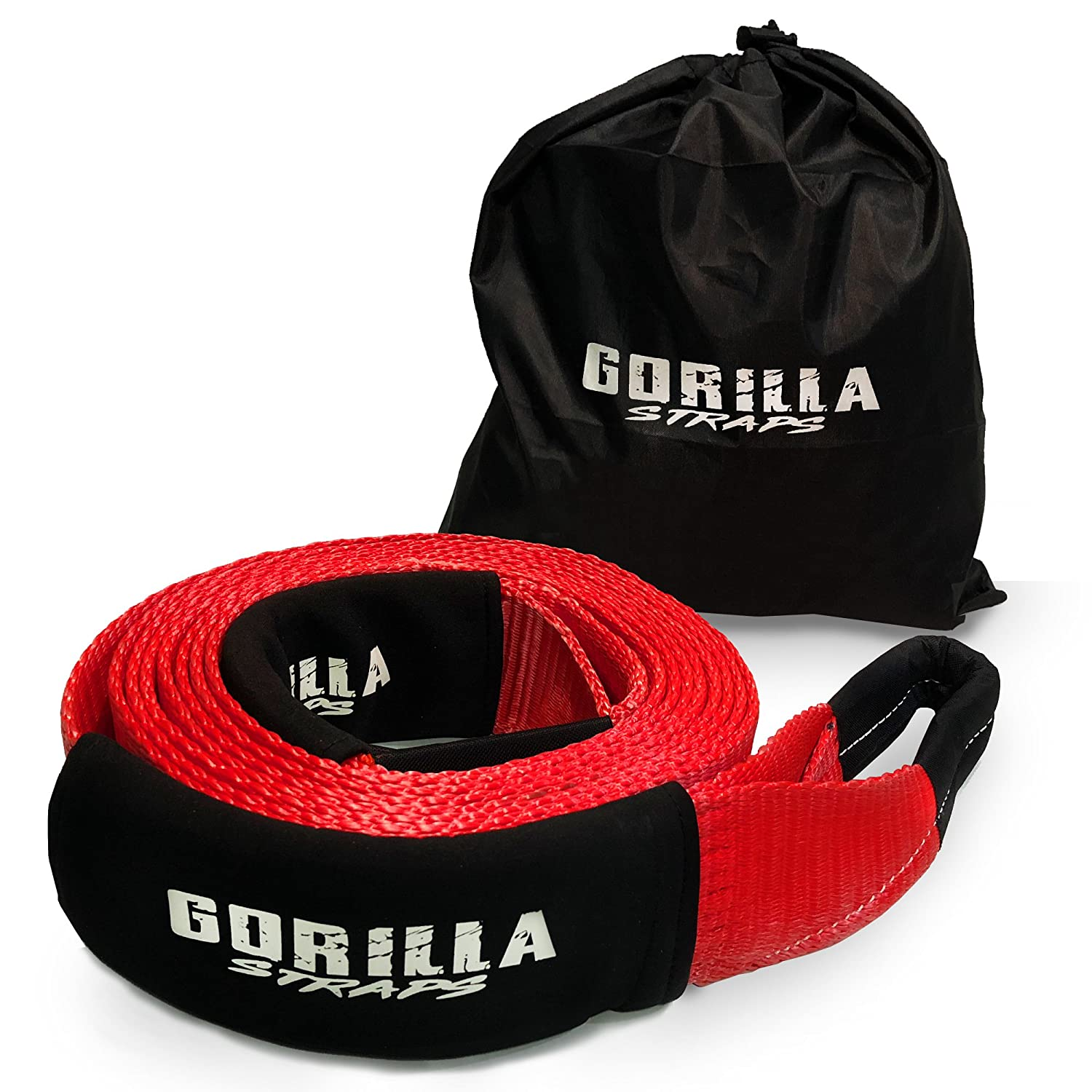mud 3 x 20ft 30,000lb strength with reinforced loops built for off-roading snow and other emergency towing Gorilla Straps Heavy Duty Recovery Tow Strap