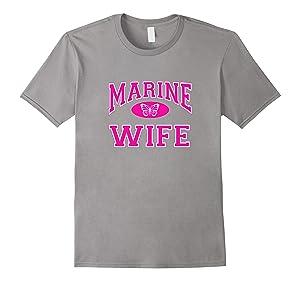 Men's Marine (Corps) (USMC) Wife Butterfly T-shirt Large Slate
