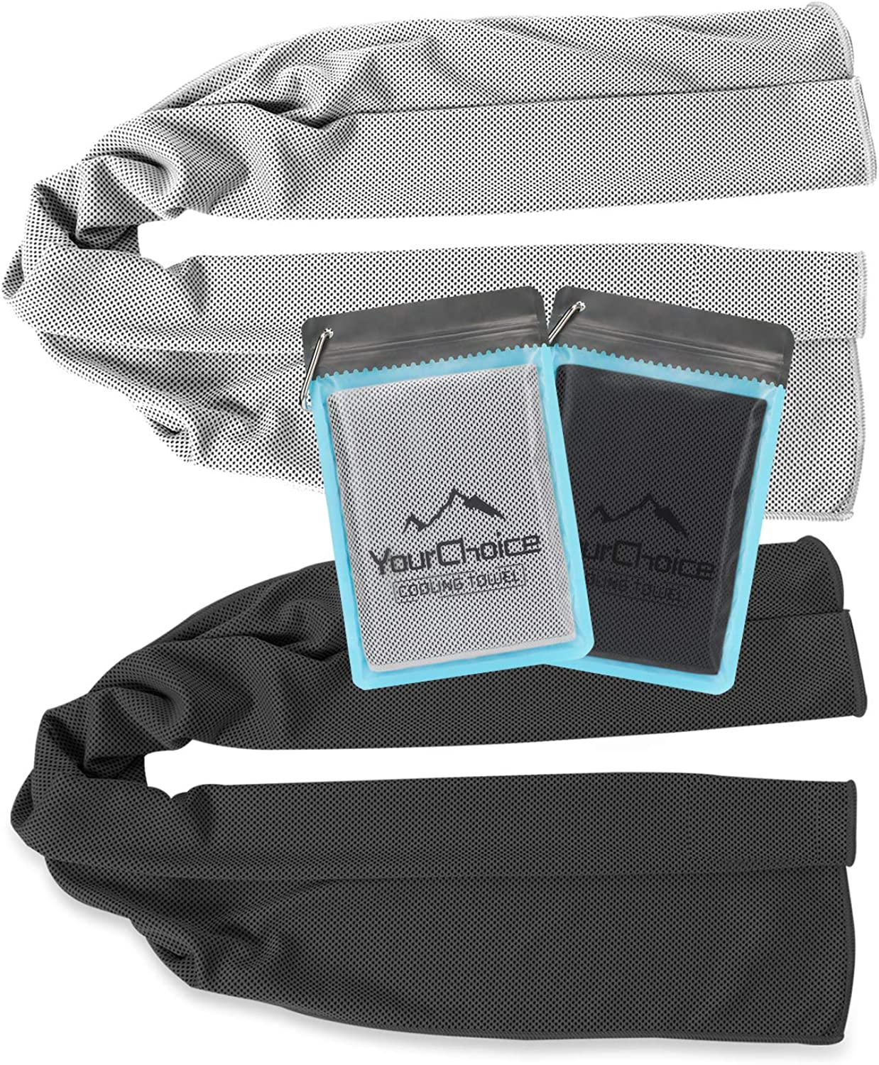 Your Choice Cooling Towel Workout, Gym, Fitness, Golf, Yoga, Camping, Hiking, Bowling, Travel, Outdoor Sports Towel for Instant Cooling Relief
