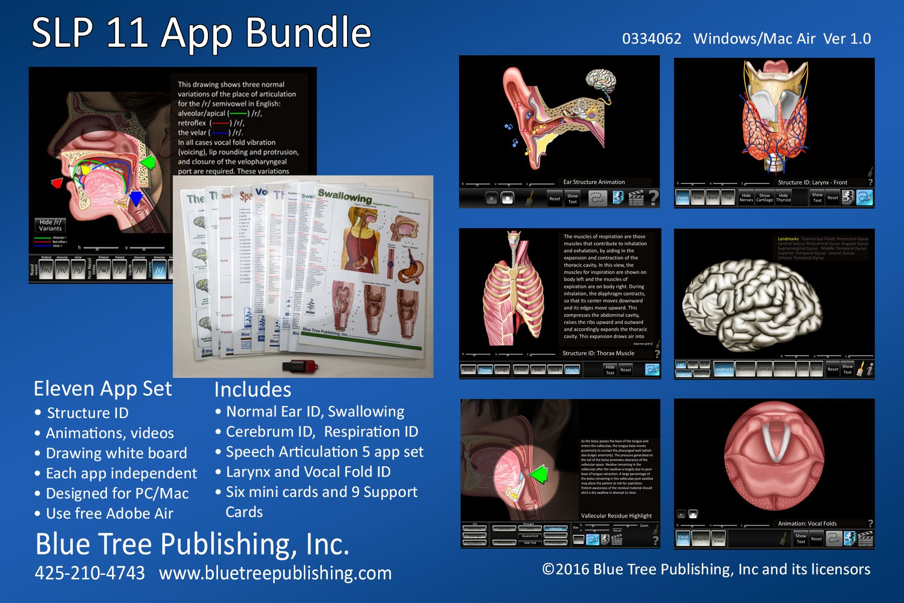 SLP Computer Software Eleven App Bundle, Nine Support Cards and one SLP  Box