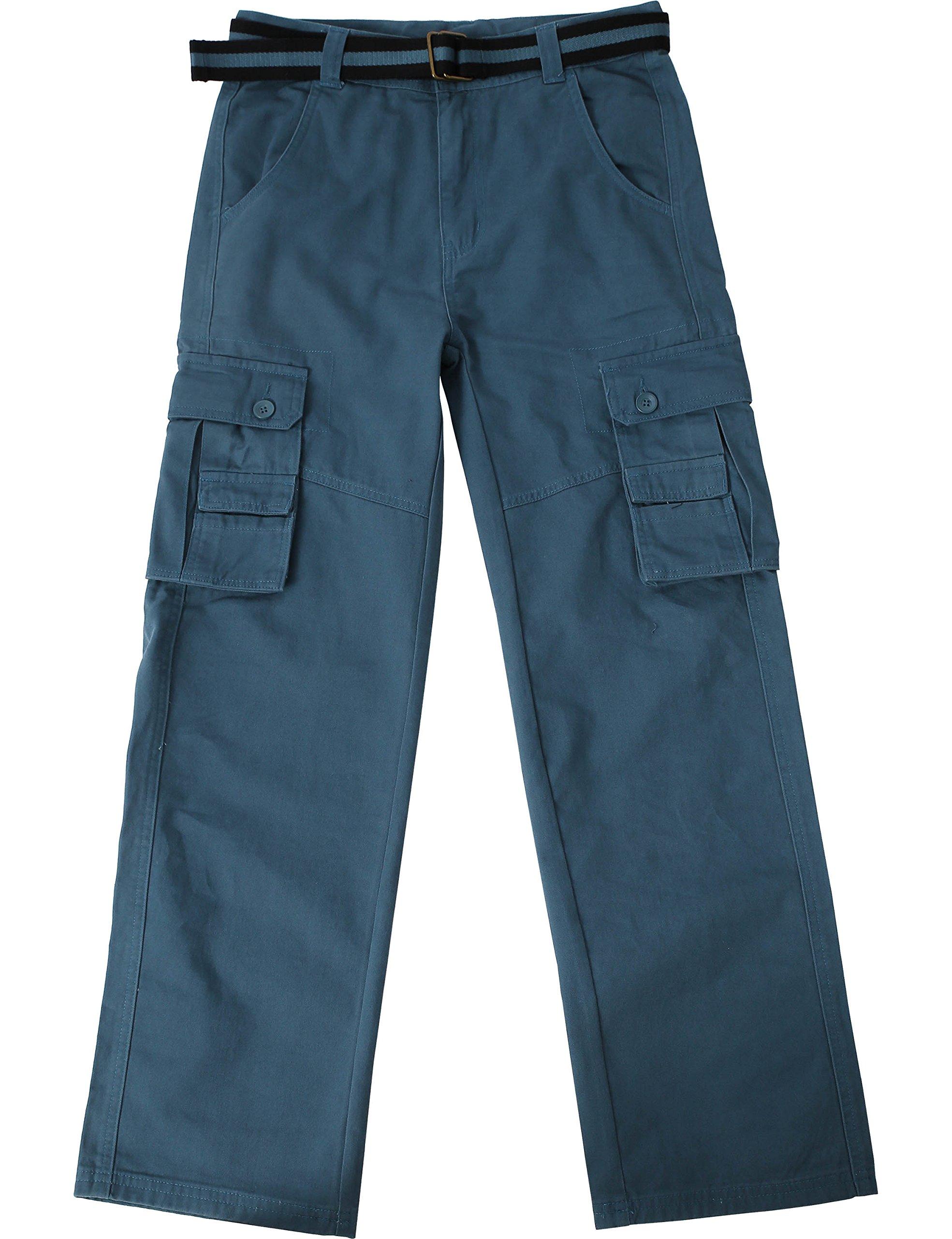 Ma Croix JP Mens Cargo Pants with Utility Belt (40/ pj01_dkblue) by Ma Croix (Image #1)