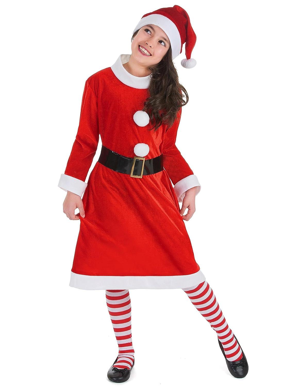 Disfraz Mamá Noel niña 7-9 años (122/134): Amazon.es: Juguetes y ...