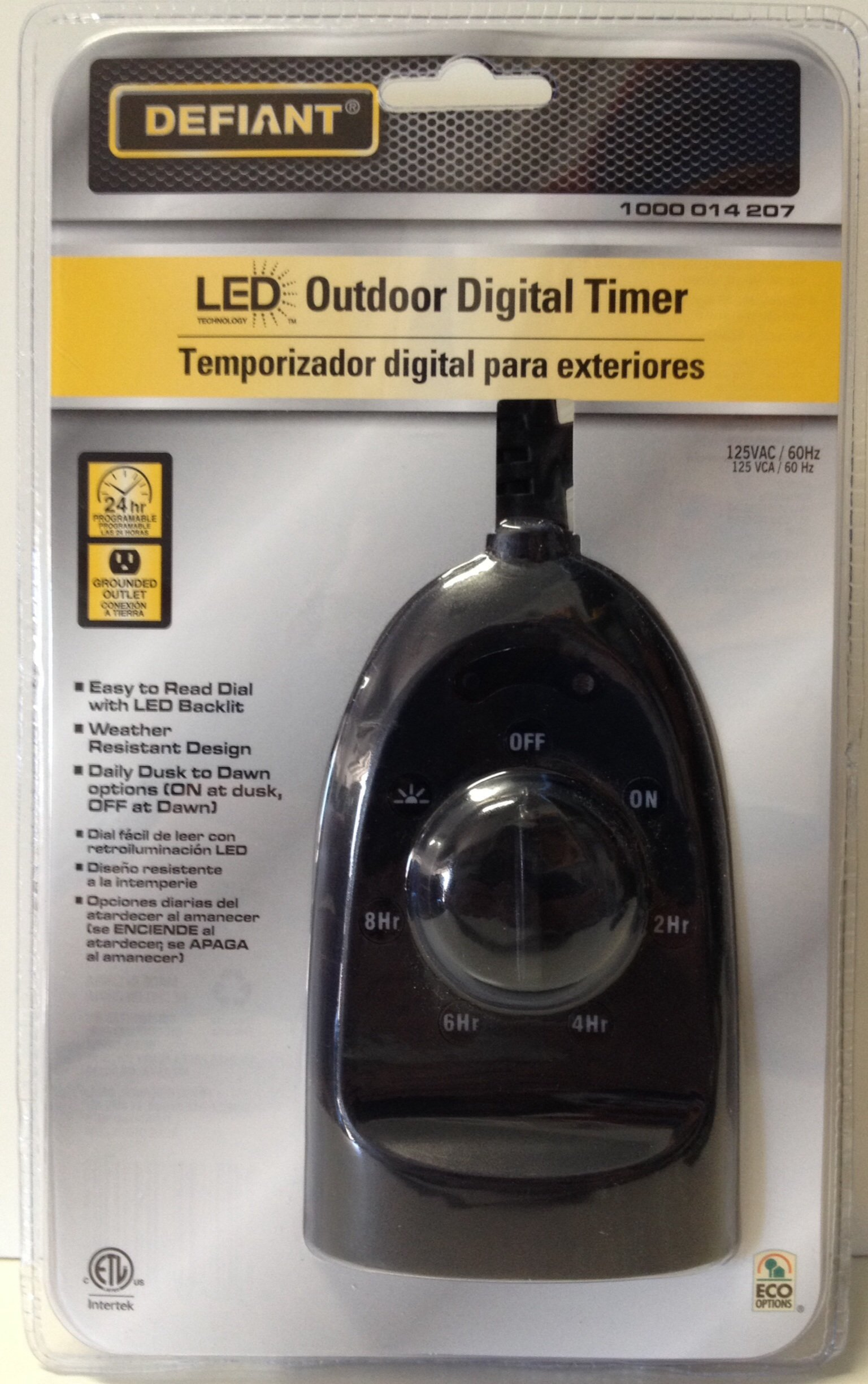 Defiant YLT-32 15 Ampere Outdoor Digital Timer Dual-Outlet with Backlight by Defiant