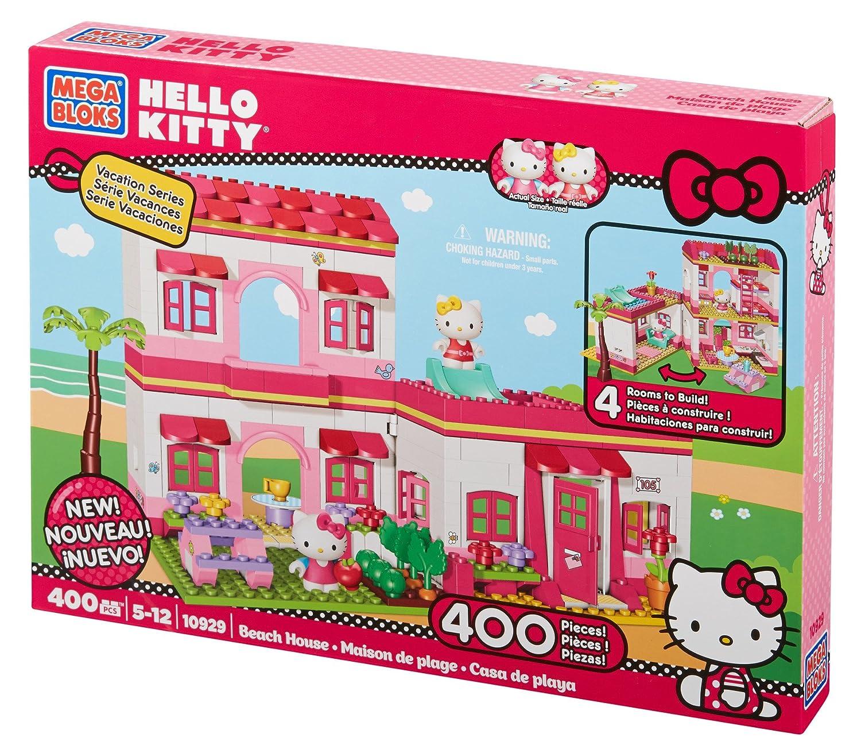 Megabloks - Juego de construcción para niños Hello Kitty de 400 piezas (Mega Brands 10929CA)