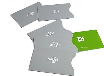 NFC21 - Funda protectora para tarjeta NFC (5 unidades ...